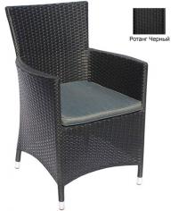 Кресло с подушкой GARDA-1033 R черный