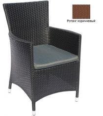 Кресло с подушкой GARDA-1033 R коричневый