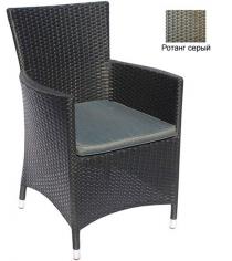 Кресло с подушкой GARDA-1033 R серый