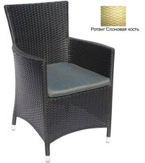 Кресло с подушкой GARDA-1033 R слоновая кость