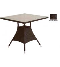 Квадратный обеденный стол со стеклом GARDA-2007 R венге