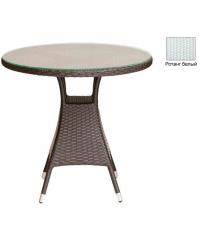 Круглый обеденный стол со стеклом GARDA-3006 R белый