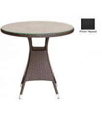 Круглый обеденный стол со стеклом GARDA-3006 R черный