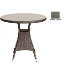 Круглый обеденный стол со стеклом GARDA-3006 R серый