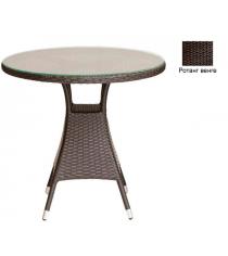 Круглый обеденный стол со стеклом GARDA-3006 R венге