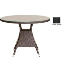 Круглый обеденный стол со стеклом GARDA-3008 R черный