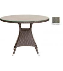 Круглый обеденный стол со стеклом GARDA-3008 R серый