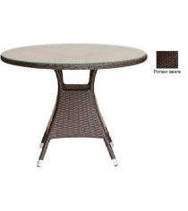 Круглый обеденный стол со стеклом GARDA-3008 R венге