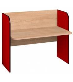 Детский письменный стол Автобус 2 Дуб Сонома Красный...