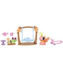 Литл пет шоп Littlest Pet Shop Игровой набор с ходячим зверьком Hasbro 32838H...