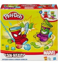 Игровой набор пластилина Hasbro Play Doh фигурки герои Марвел Человек Паук и Зел...