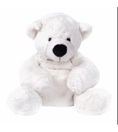 Мягкая игрушка медведь белый лежачий 23 см 7 43063 1...