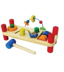 Интерактивная развивающая игрушка I'm Toy Скамейка Стучалка 22021