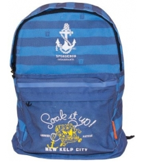 Рюкзак подростковый Gulliver Губка Боб синий с голубым серия Морская S230051-T
