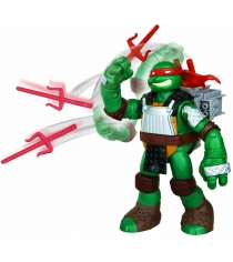 Playmates toys Фигурка TMNT Черепашка-ниндзя с метательным механизмом Рафаэль 91103