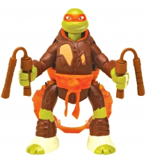 Playmates toys Фигурка TMNT Throw N Battle Микеланджело 15 см 91632