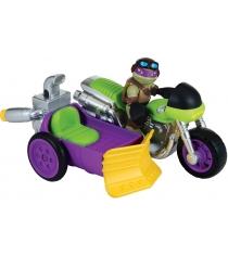 Playmates toys Фигурка TMNT Half-Shell Heroes Черепашка ниндзя Донни с мотоцикло...