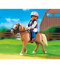 Playmobil серия конный клуб Лошадь Хафлингер со стойлом 5109pm