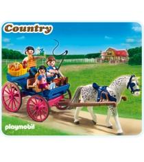 Playmobil серия конный клуб Повозка, запряженная лошадью 5226pm...