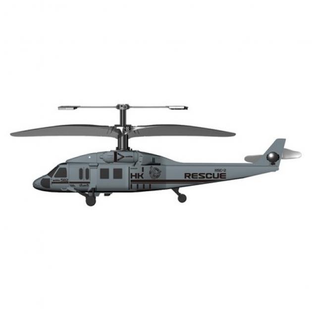 Вертолет на радиоуправлении Silverlit Чёрный ястреб трехканальный 84506