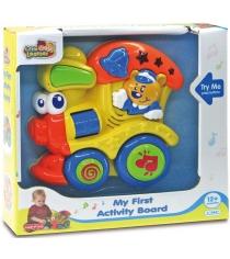 Обучающая панель Hap-p-Kid Мишка на паровозике 4217T