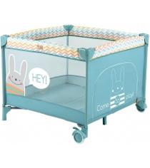 Кровать манеж Happy Baby Alex Blue