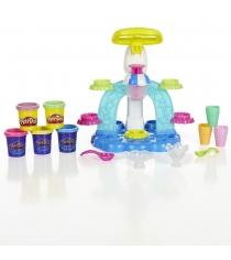 Детский пластилин play doh игровой набор фабрика мороженого b0306