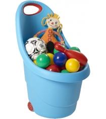 Корзина Keter для игрушек на колесах 17183001 голубой