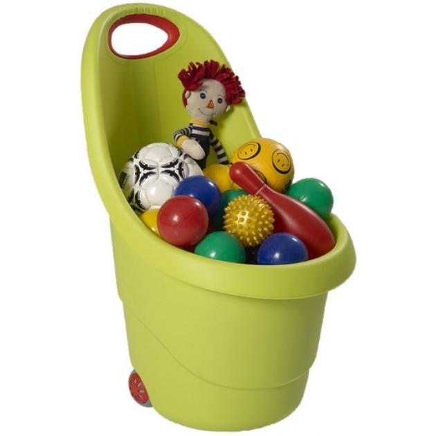 Корзина Keter для игрушек на колесах 17183001 зеленый