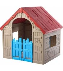 Keter Foldable Playhouse Складной Бежевый-красный 17202656