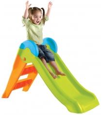 Горка детская пластиковая Keter Буги зелено оранжевый
