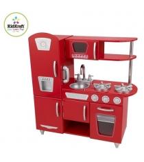 Деревянная кухня Kidkraft винтаж, цвет красный 53173_KE