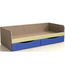 Детская кровать с ящиками ДК-11 синяя