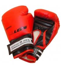 Перчатки боксерские Leco красные 8 унций т007-3