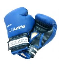 Перчатки боксерские Leco синие 8 унций т007-4