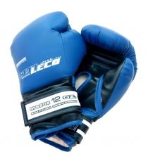 Перчатки боксерские Leco синие 12 унций т007-8