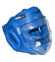Шлем для рукопашного боя Leco Pro синяя размер XL гп5-16