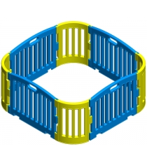 Модульный манеж leco-it 1,25 х 1,25 м