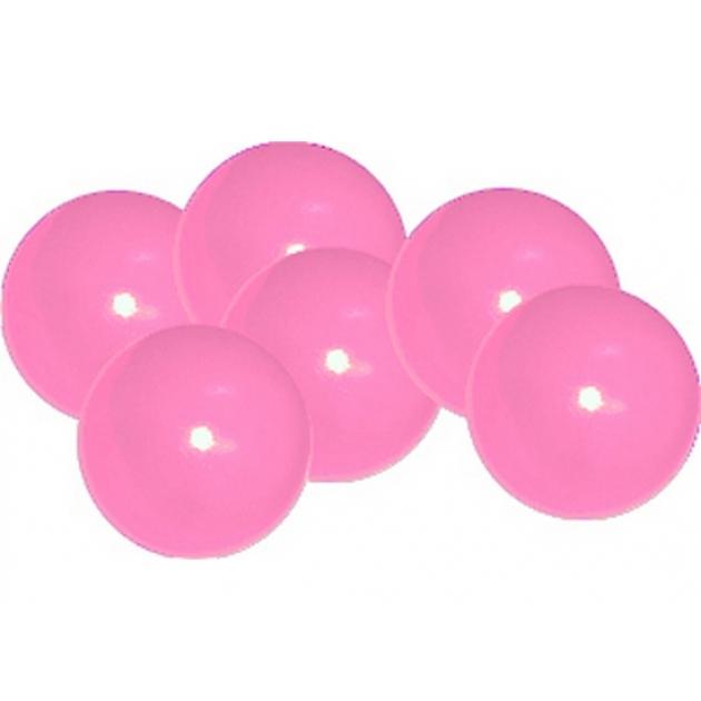 Мячики для манежа бассейна Leco диаметр 12 см 10 шт розовые