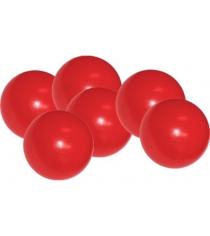 Мячики для манежа бассейна Leco 12 см 10 шт красные гп230640