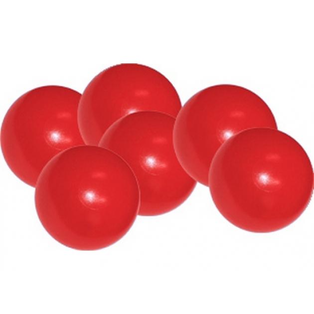 Мячики для манежа бассейна Leco диаметр 12 см 10 шт красные