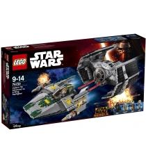 Lego Star Wars Истребитель СИД Дарта Вейдера против Звёздного Истребителя A-W 75150