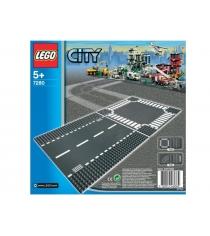 Lego City Перекресток и прямые рельсы 7280