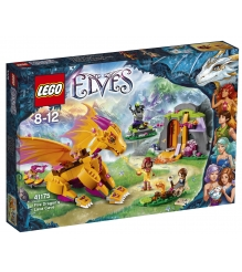 Lego Elves лавовая пещера дракона огня 41175