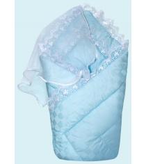 Конверт одеяло на выписку Little People летний 20021/2 голубой