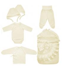 Комплект с конвертом на выписку Little People Лучик 6 предметов 10011 молочный