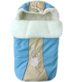Зимний меховой конверт Little People Снежинка 12002 голубой...