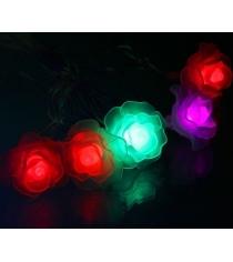 Новогодняя гирлянда Luazon Роза большая 5 м силикон LED Метраж мульти 671574