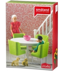 Набор кукольной мебели Lundby Смоланд Обеденная группа LB_60209000