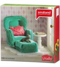 Набор кукольной мебели Lundby Смоланд Кресло с пуфиком LB_60209300